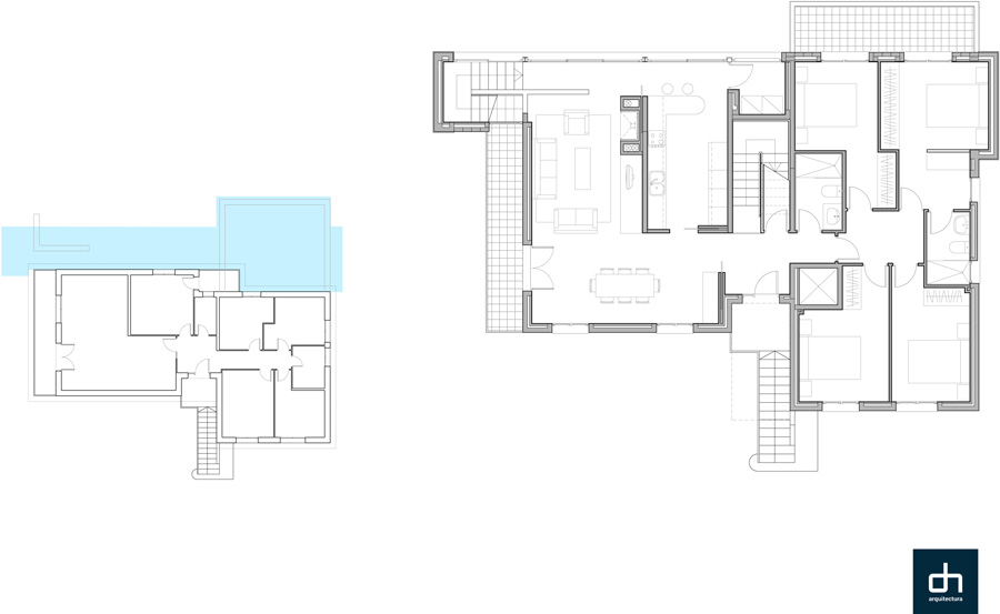 architecture, extension of a residential house