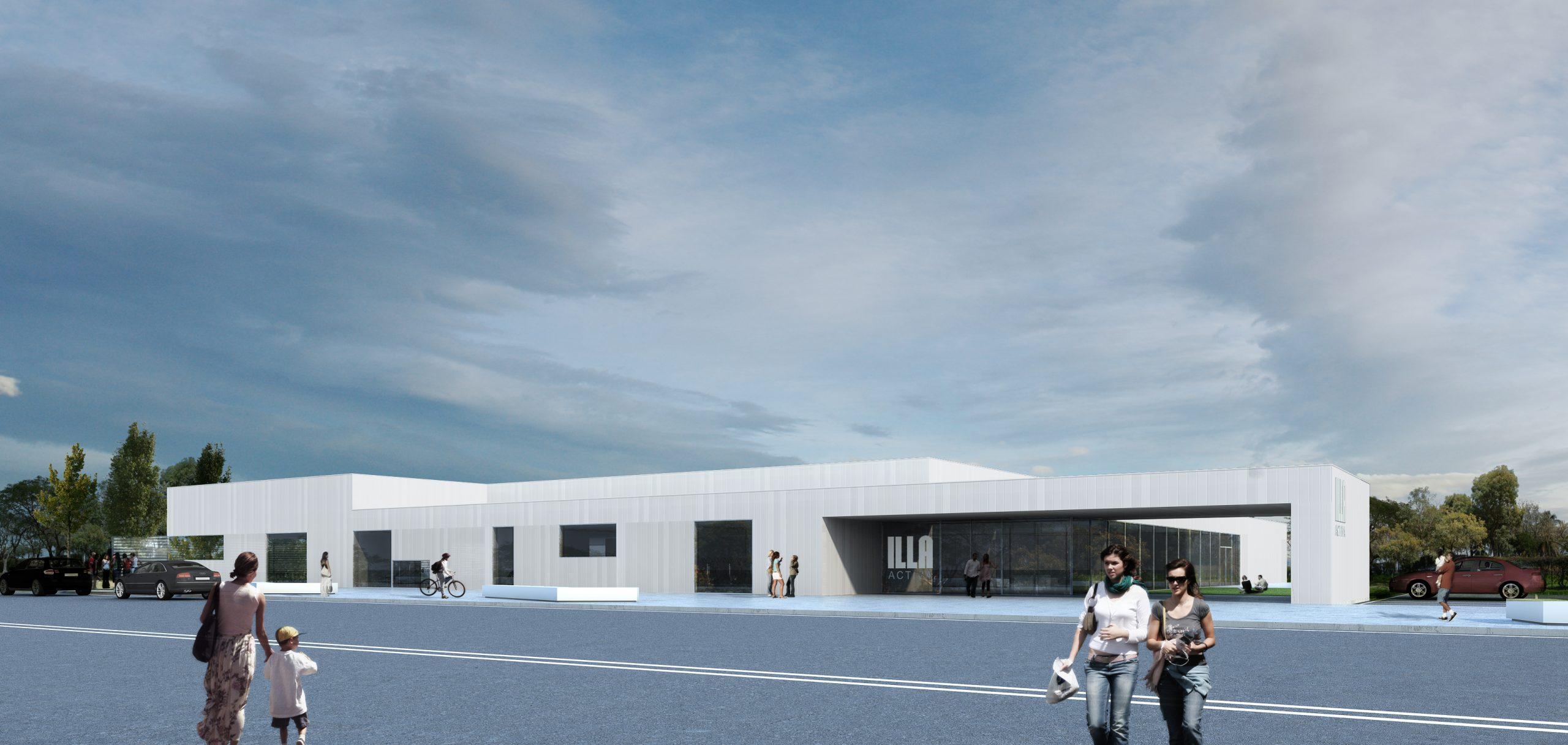 arquitectura centro deportivo municipal en palau