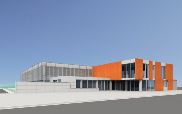 sports architecture of the sports center in Vic
