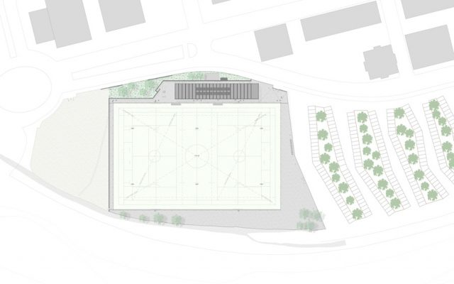 sports architecture, rugby tree implantation