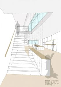stair design for a housing reform in Barcelona