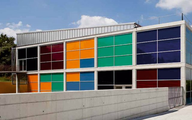 sports center facade in Llinars del Vallès